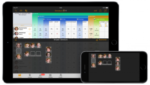 TeacherTool5 Sitzplan auf iPad Air 2 und iPhone 6